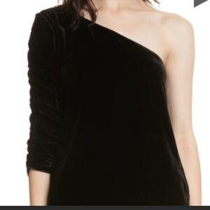 Joie One shoulder velvet shirt